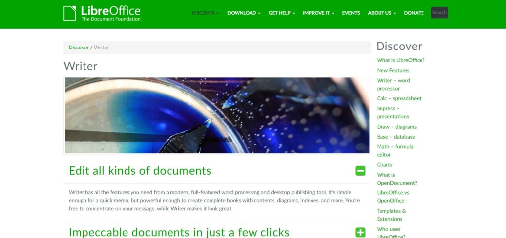LibreOffice is one of the free writing tools for writers