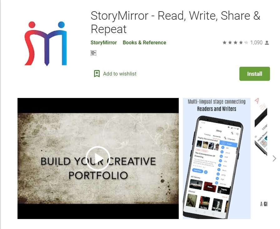 StoryMirror App: Read and Write. This is one of the best writing apps for writers.