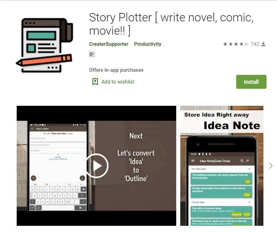 Story Plotter App: Write Novels