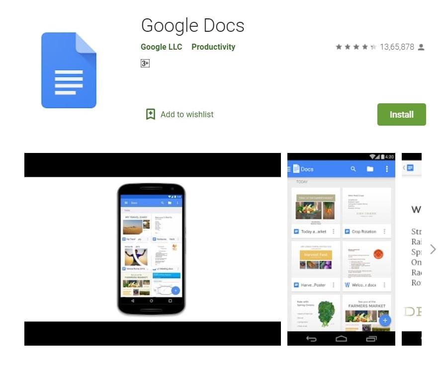Google Docs App: Create Documents