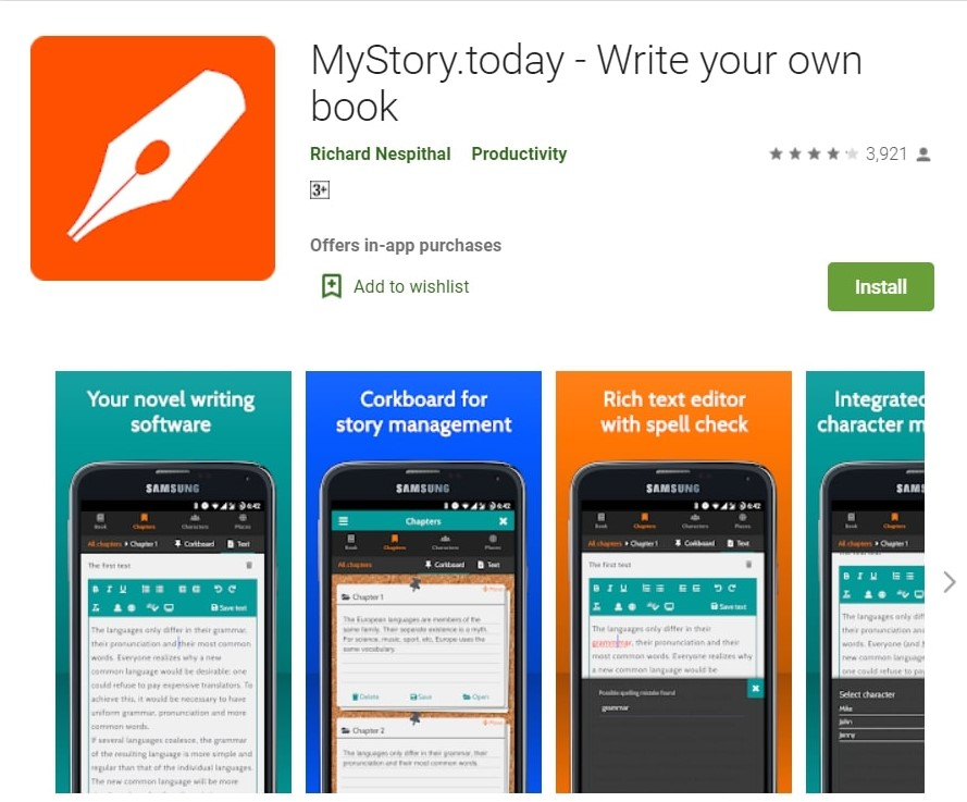 MyStory.today App: Write your own book