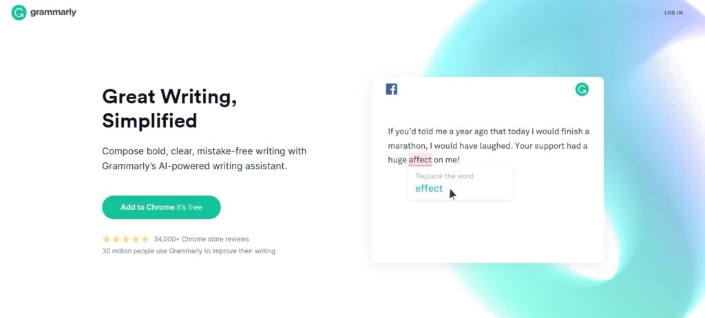 This Grammarly tool helps you to write efficiently and find grammatical errors.
